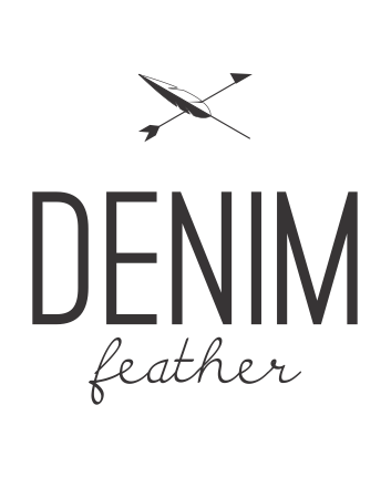 Denim feather