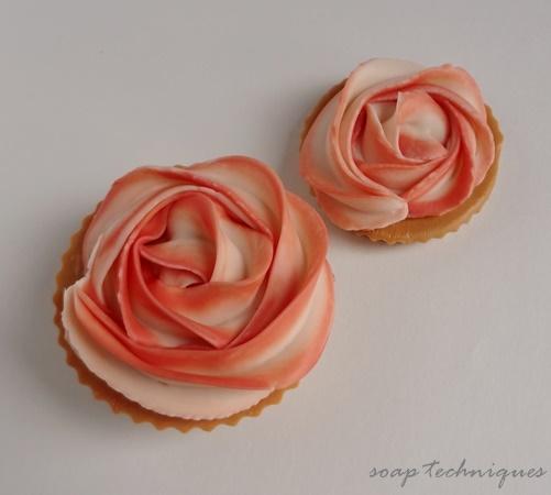 Rose cupcakes - Mini Dessert Soaps