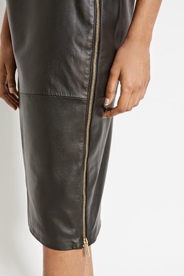 side zip leather skirt