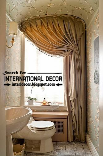 Modern pinch pleated curtains for bathroom window covering, beige curtains, bathroom curtains