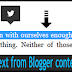 Share the selected text from Blogger content to twitter Profile