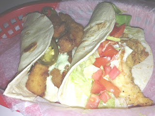 Chicken tacos, fish tacos