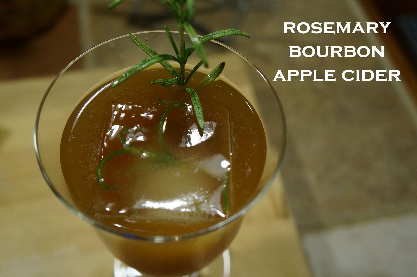 adorned abode: Rosemary Bourbon Apple Cider Cocktail