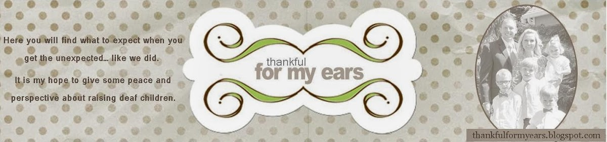 thankful for my ears