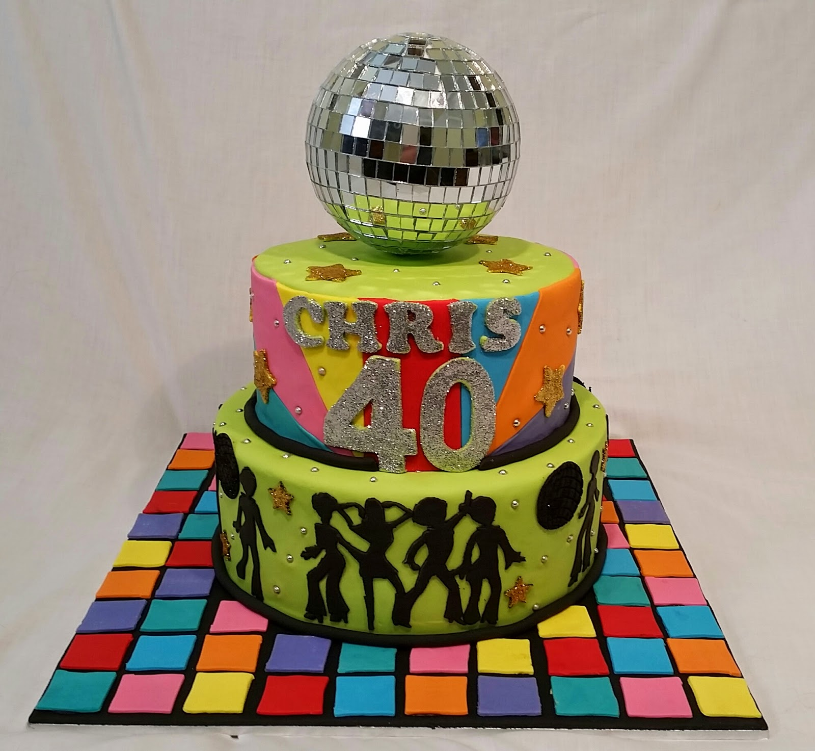 Disco Party Cake Images : Cakes and Other Delights: 70 s Disco.....