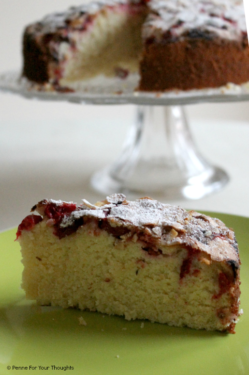 Gluten free orange, cranberry and almond cake