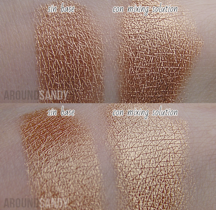 Barry M Bronze swatches dazzle dust