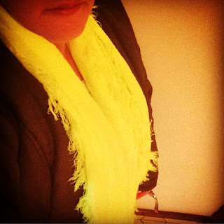 Cotton On neon yellow scarf