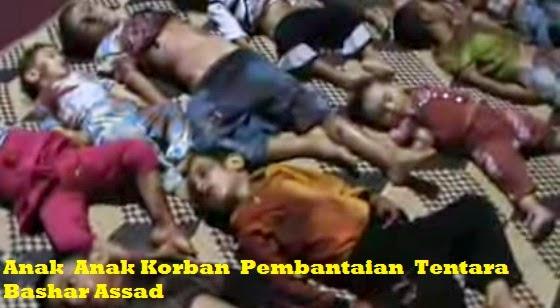 anak-anak korban pembantaian di suriah