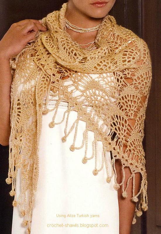 Crochet Shawl : Crochet Shawls: Shawl - A Gorgeous Lace Crochet Shawl