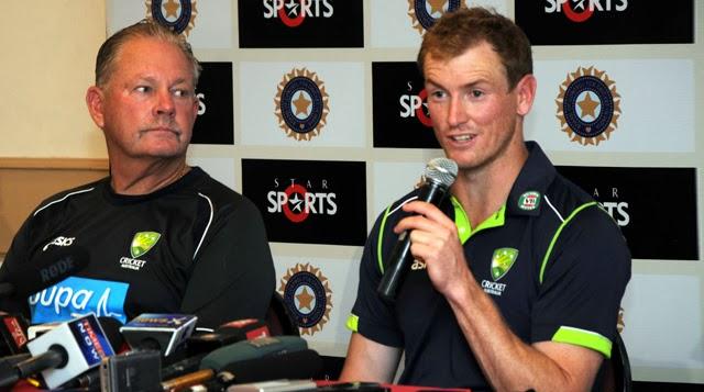 George-Bailey-Steve-Rixon-India-vs-Australia-2013