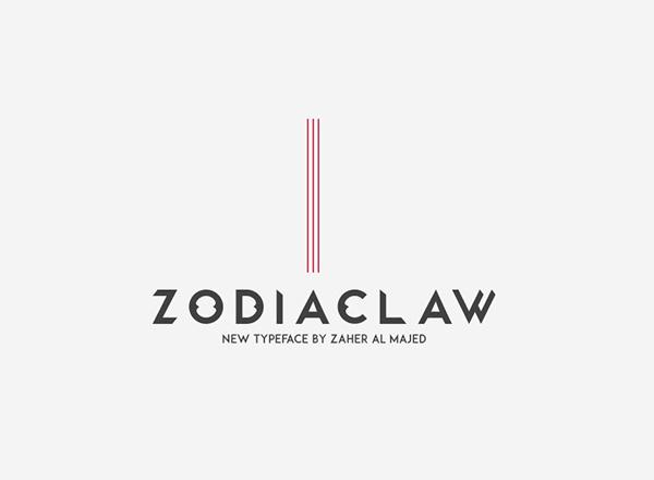 Zodiaclaw free font