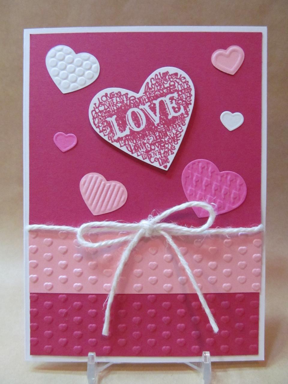 Savvy Handmade Cards Embossed Love Card