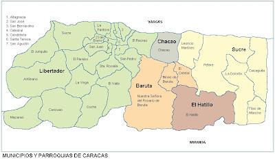 Mapa de Caracas Venezuela