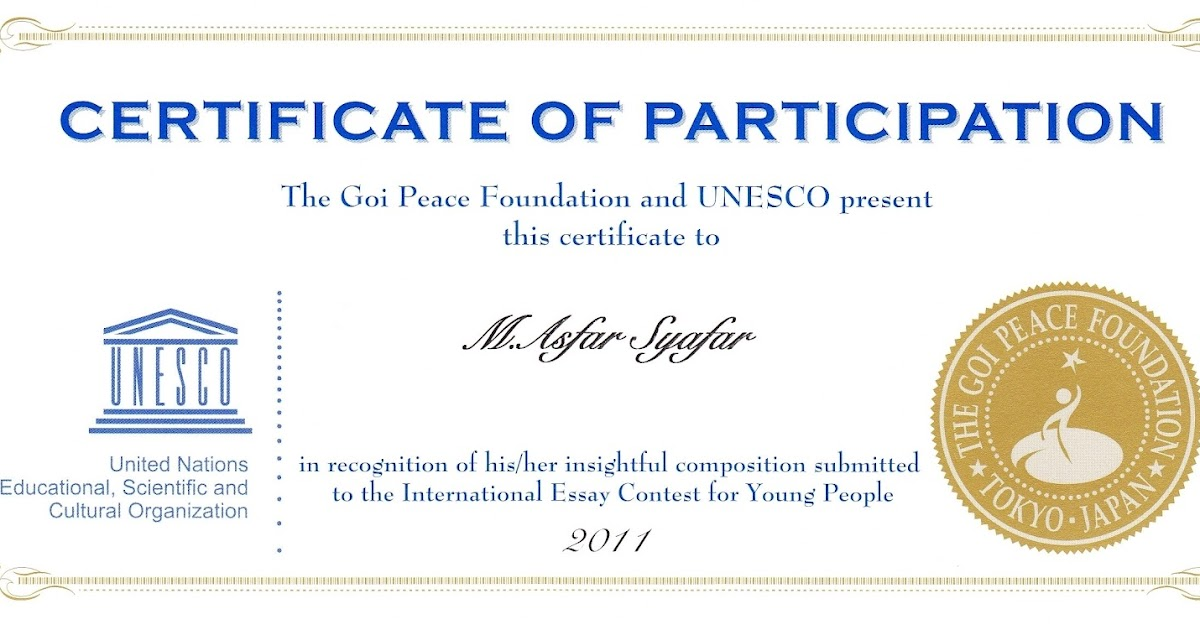 goi peace international essay contest 2012 Dear youth leaders: young people from around the world are invited to enter the 2012 goi peace foundation - unesco international essay contest for young people.