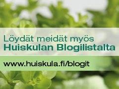 Iloinen piha Huiskulan Blogilistalla