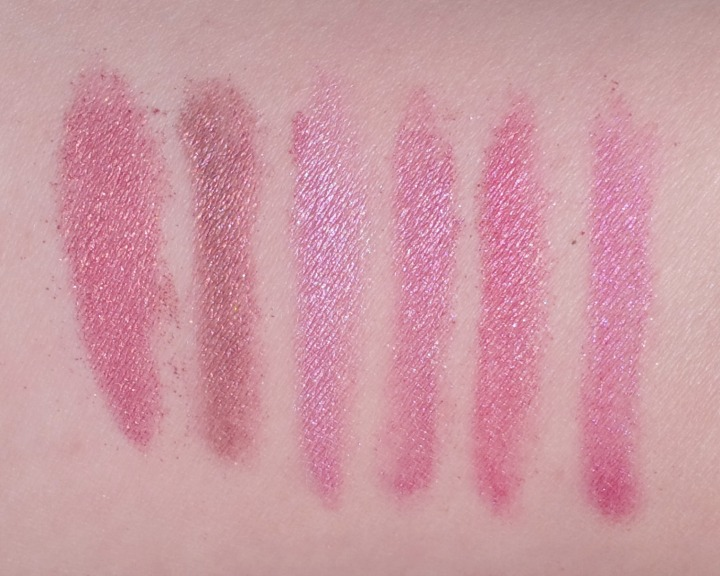 LOL Cosmetics Rotational Eye Shadow Palette in So Rosemantic swatch swatches
