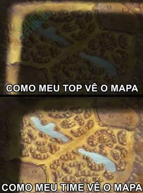 Como a Top lane é vista? Pelo Top Lanner e pelo resto do time.