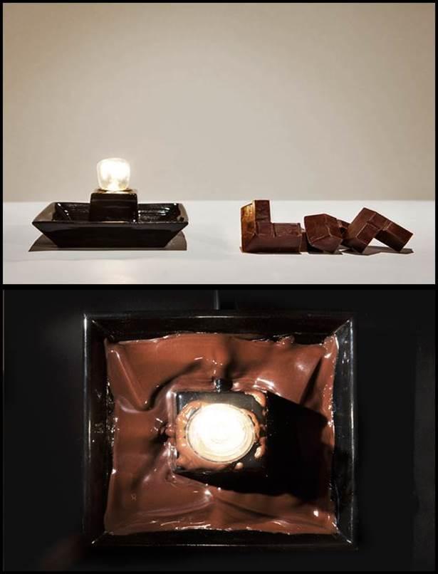 lumière au chocolate lampu LED daripada coklat