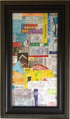 Ticket stub collage