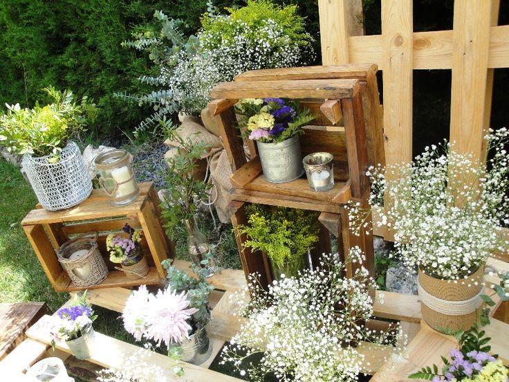 Masquedesig que flores for Decoracion rustica para bodas