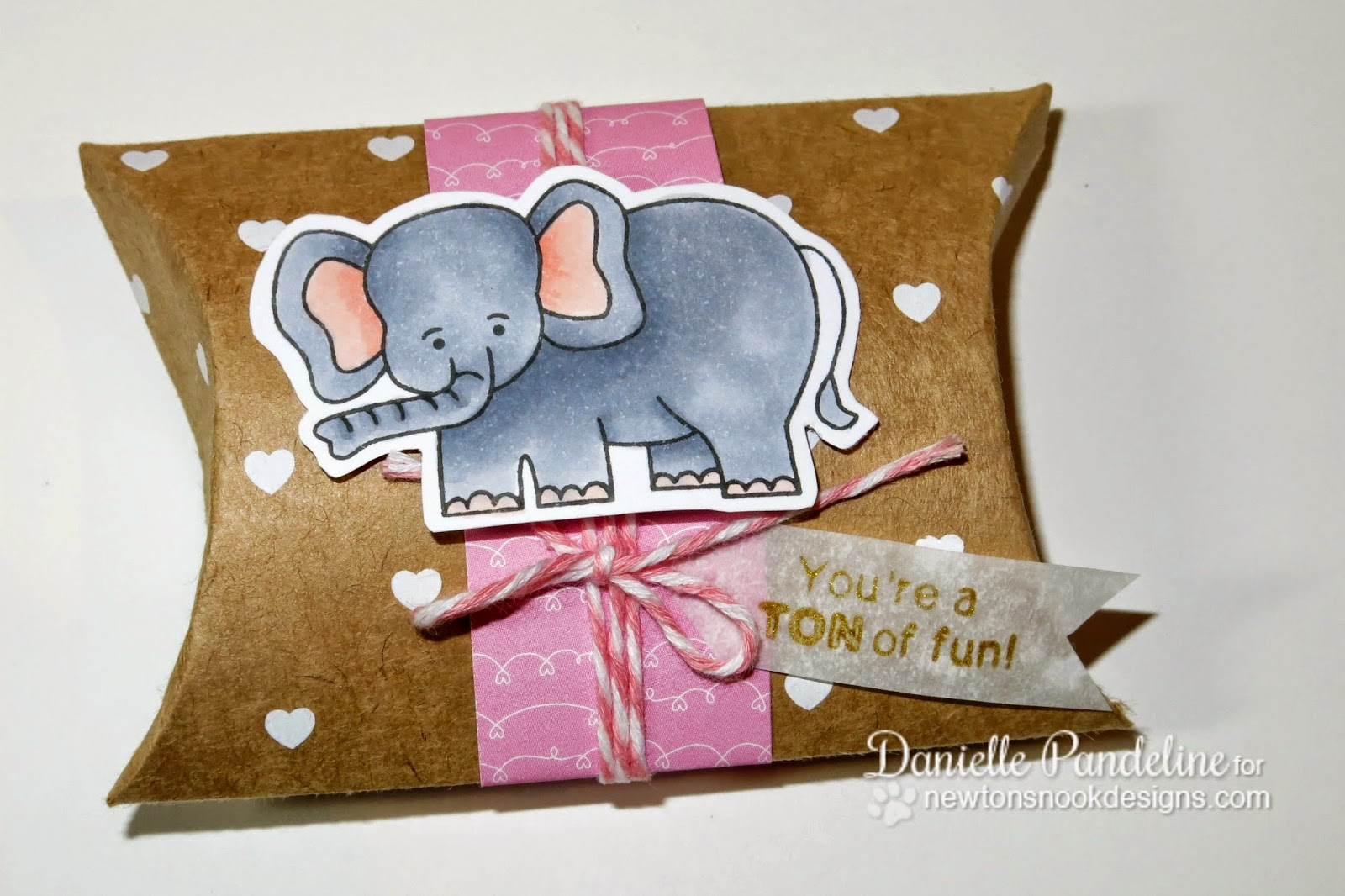 Pillow Box Treat by Danielle Pandeline | Featuring Newton's Nook Deisgns