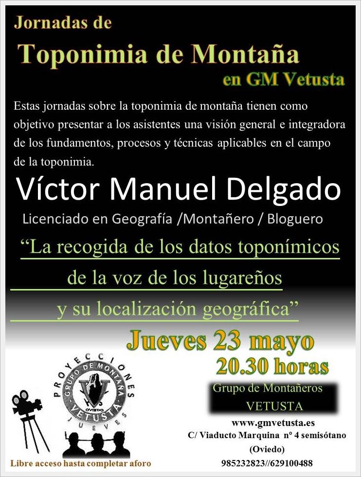 Jornadas de Toponimia de Montaña (G. M. Vetusta) (Mayo 2019)
