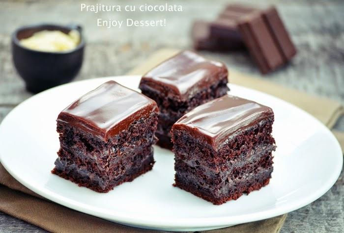 Prajitura de ciocolata cu ganache de ciocolata
