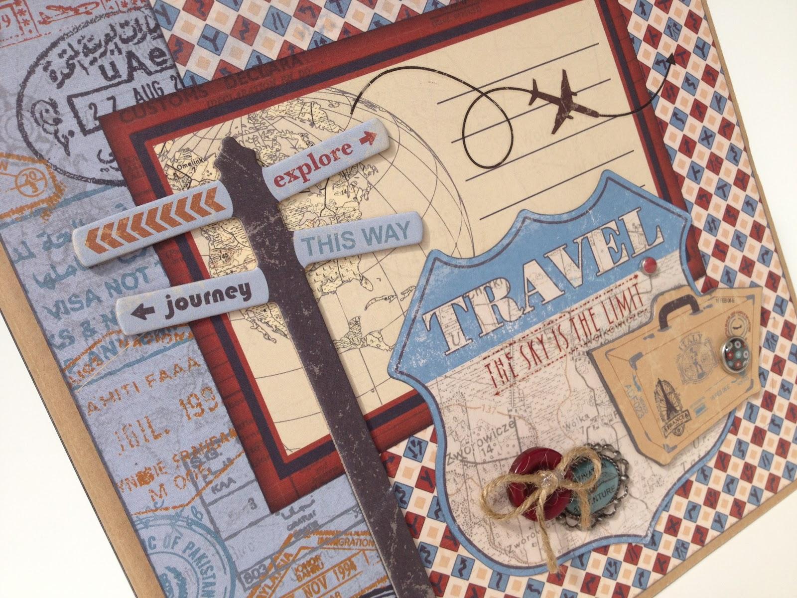 Travel scrapbook ideas - Sunday August 19 2012