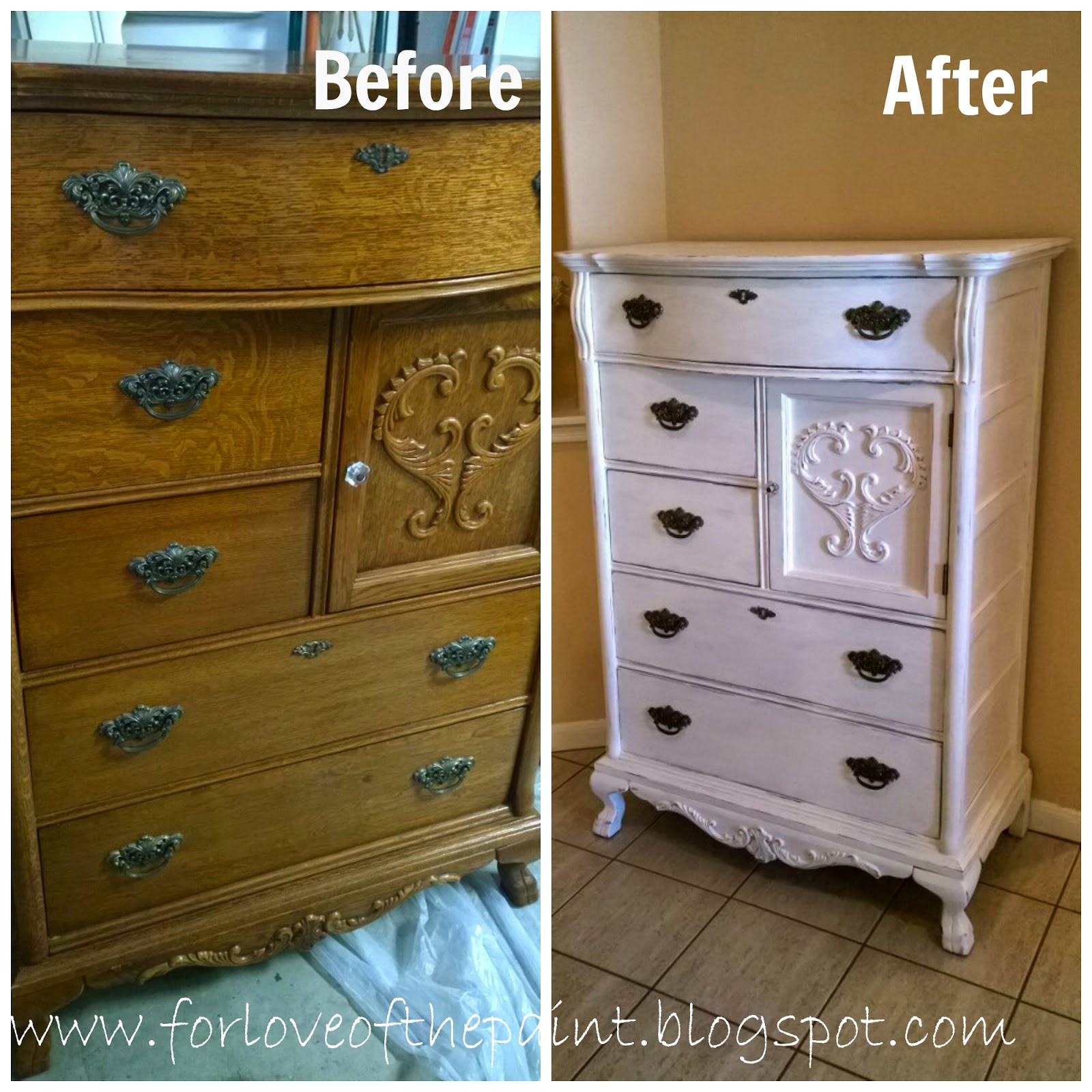 For love of the paint before and after lexington chest for T furniture okolona ms