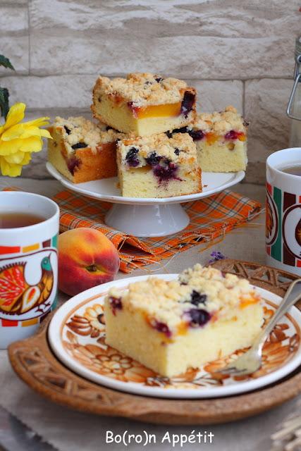 ciasto na kefirze z owocami przepis