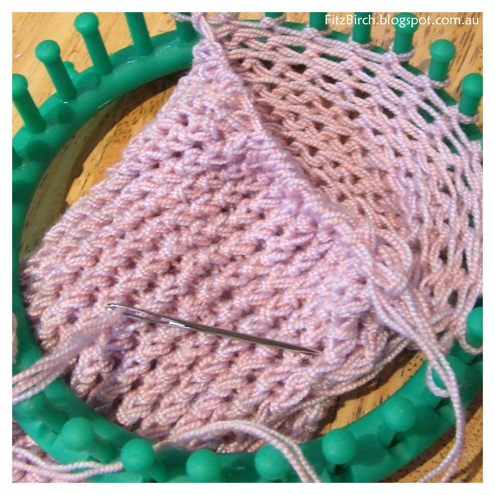 Knitting Loom Stitches : Fitzbirch crafts loom knit tea cosy