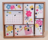 MONTHLY INTERCHANGEABLE CALENDAR