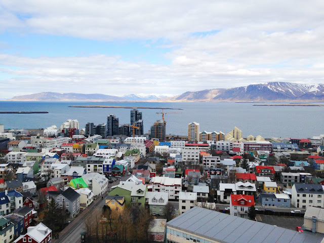 The stunning view of Iceland's capital, Reykjavik, from the top of Hallgrimskirkja