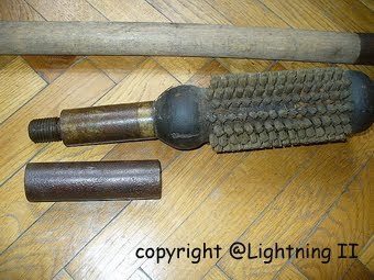 Original barrel cleaning rod to german 7.5 cm guns CLICK PHOTO - ENTRANCE  TO THE GALLERY