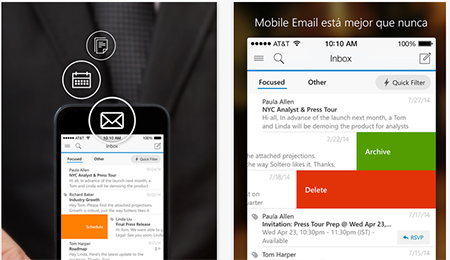 Nueva App Outlook: iniciar sesion desde i OS