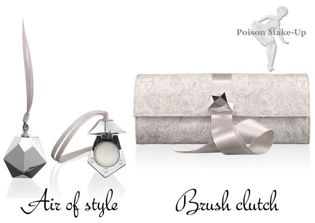 Perfume sólido e Brush clutch da coleção da MAC em parceria com Marcel Wonders.