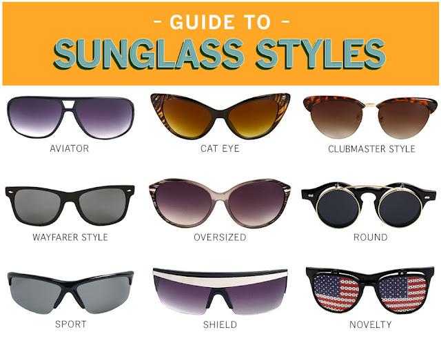 Sunglass styles