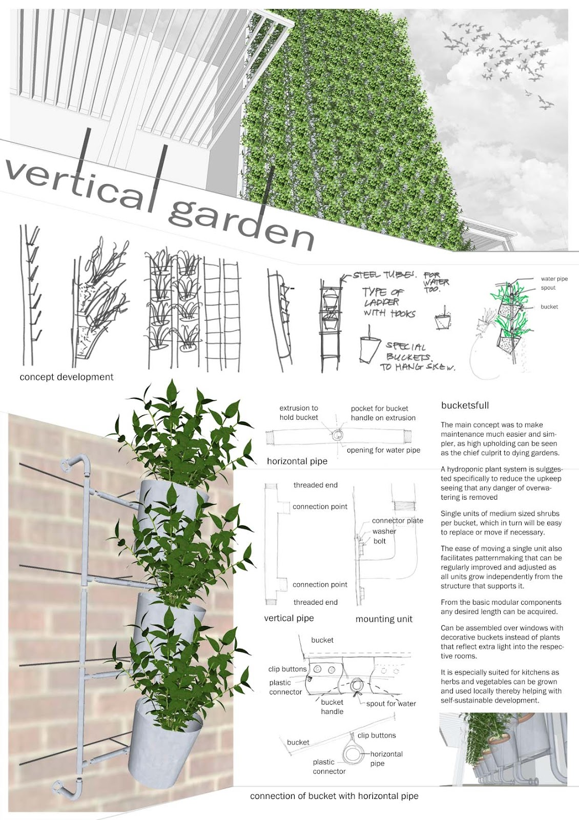 daniel de koning university portfolio vertical garden system. Black Bedroom Furniture Sets. Home Design Ideas