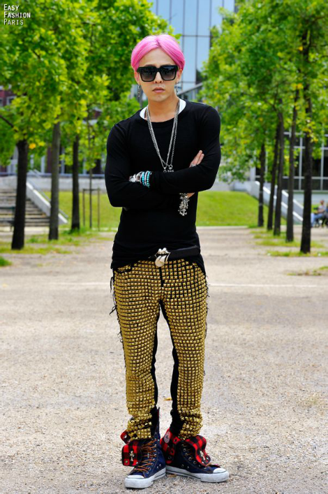 gd in  paris rick owens show 1