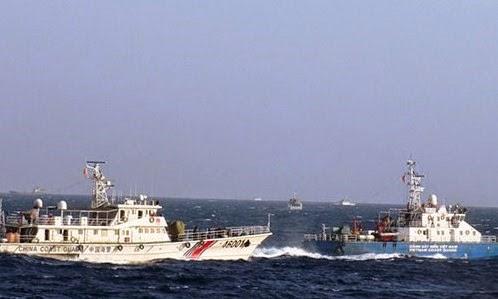 Trung Quốc gài bẫy tàu Việt Nam để quay phim