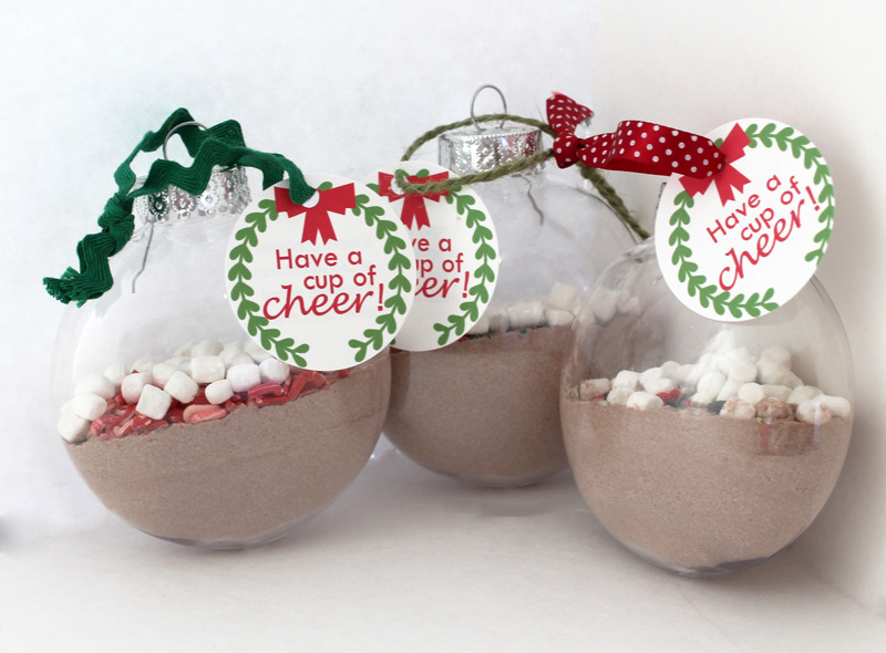 Taylor Stamped: Hot Cocoa Christmas Ornaments and Free Printable