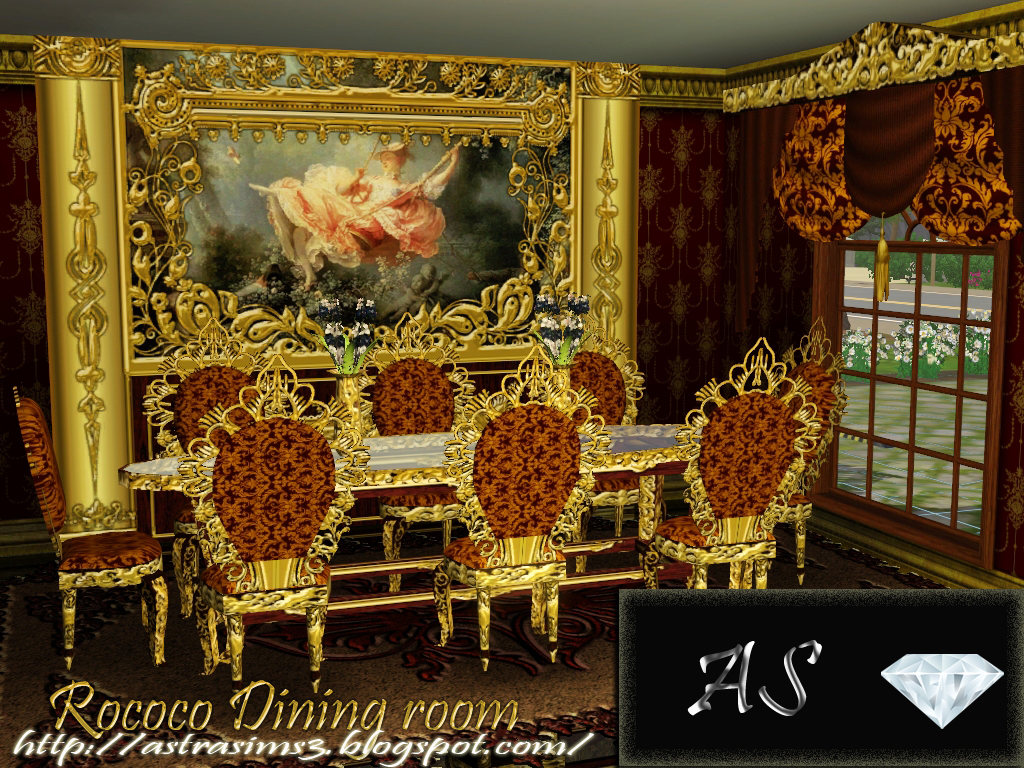 My Sims 3 Blog Rococo Dining Set By Astra