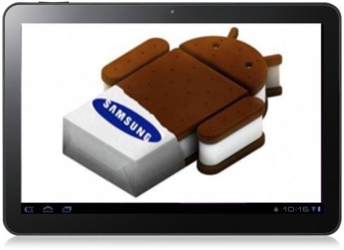 Il samsung Galaxy Tab 10.1 riceve l'aggiornamento ics alla versione 4.0.4