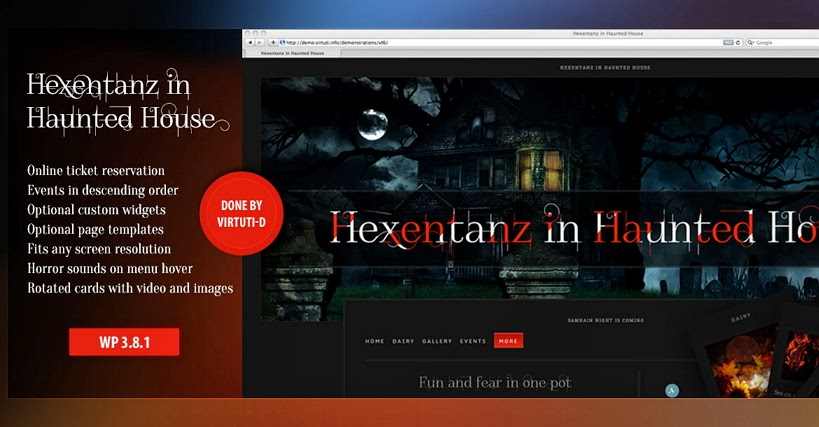 spooky Halloween WordPress theme 2014