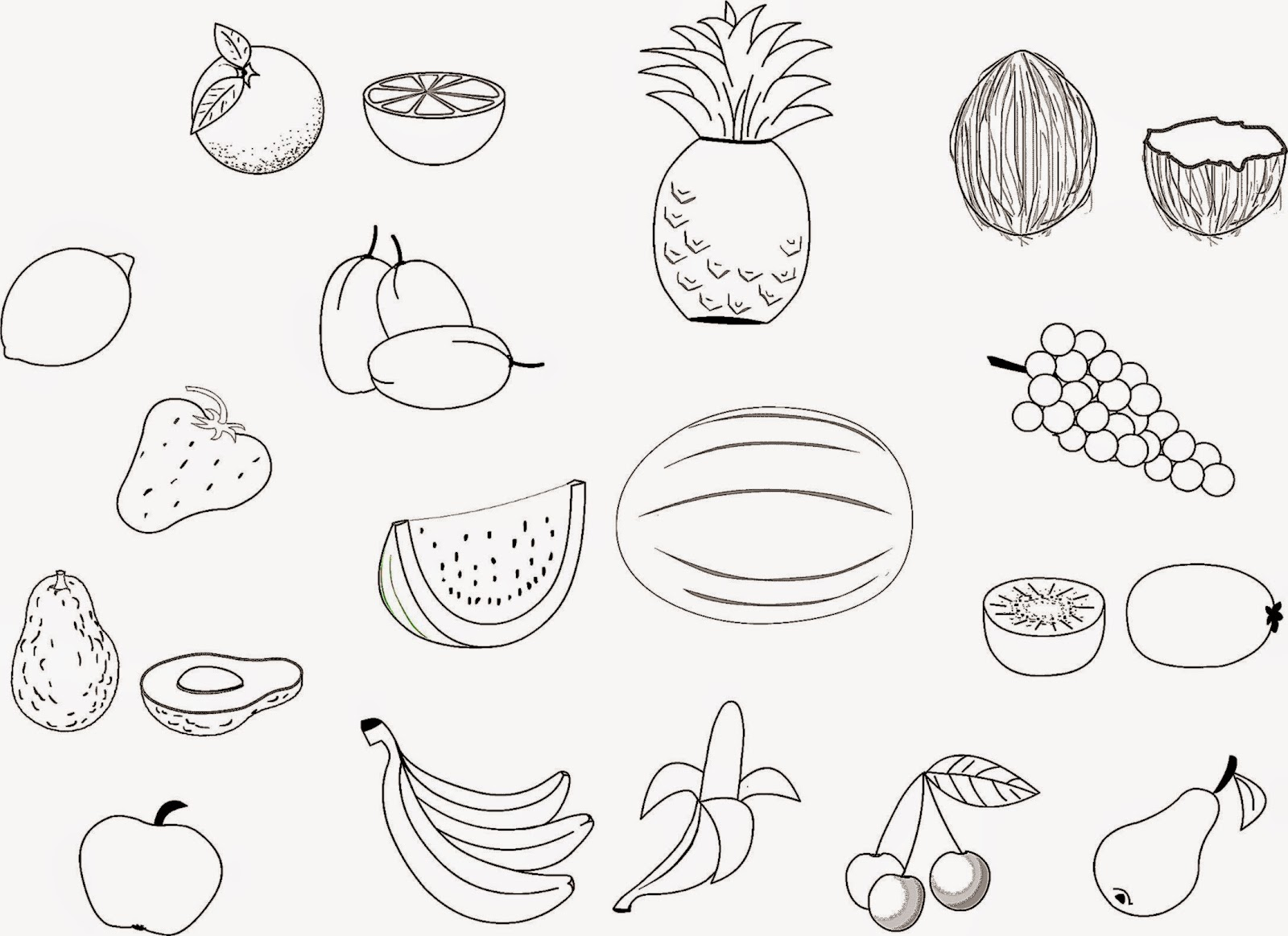 Coloring pictures of fruit free coloring pictures for Printable fruit coloring pages