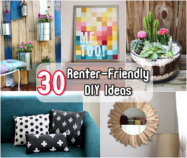30 Renter-Friendly DIY Ideas