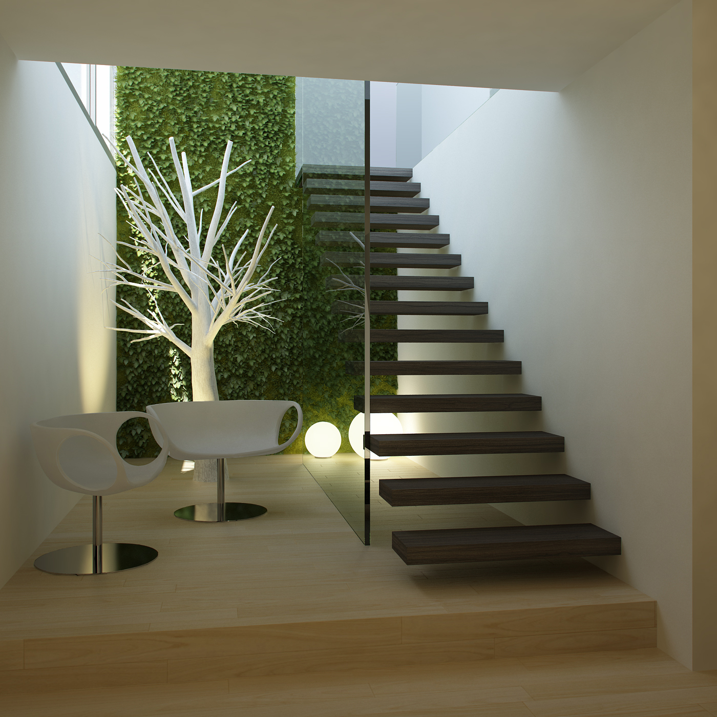 Living in designland detalle escalera for Escalera interior casa