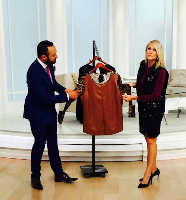 Nick verreos on evine live showing his new quot nv nick verreos quot textured