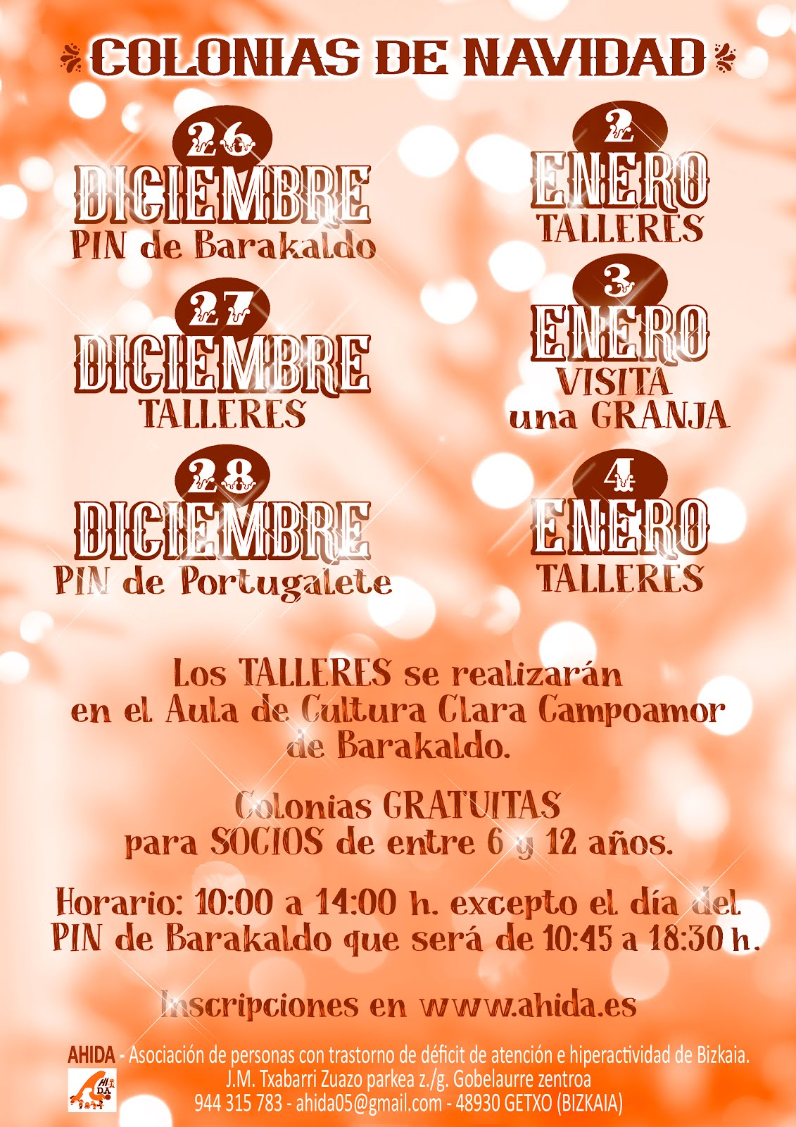 TALLERES  DE NAVIDAD!!!
